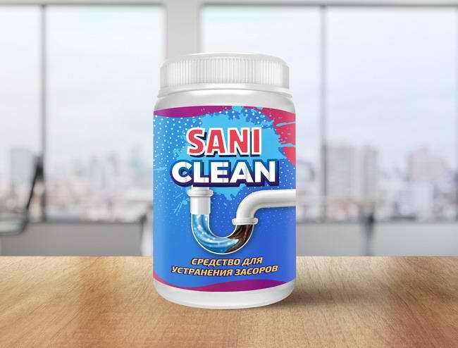 Средство для устранения засоров Saniclean